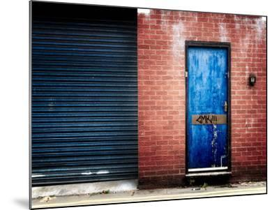 Derelict Door with Graffiti-Clive Nolan-Mounted Photographic Print