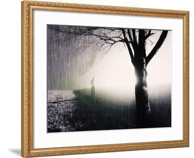 Standing in the Rain under Tree-Jan Lakey-Framed Photographic Print
