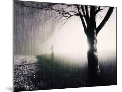 Standing in the Rain under Tree-Jan Lakey-Mounted Photographic Print