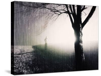 Standing in the Rain under Tree-Jan Lakey-Stretched Canvas Print