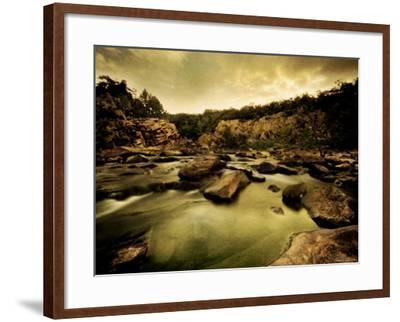 Water Flowing through Rocky Riverbed-Jan Lakey-Framed Photographic Print