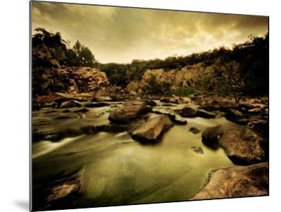 Water Flowing through Rocky Riverbed-Jan Lakey-Mounted Photographic Print
