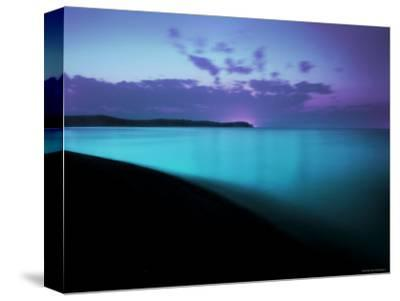 Glowing Turquoise Blue Waters-Jan Lakey-Stretched Canvas Print