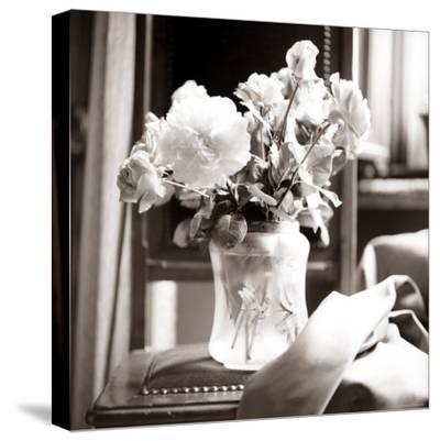 Study of Floral Arrangement-Edoardo Pasero-Stretched Canvas Print