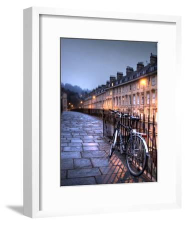 Night Winter Street Scene in Bath, Somerset, England-Tim Kahane-Framed Photographic Print