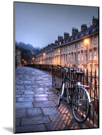Night Winter Street Scene in Bath, Somerset, England-Tim Kahane-Mounted Photographic Print