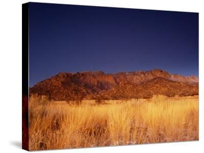 Sandia Mountains Desert Twilight Landscape, New Mexico-Kevin Lange-Stretched Canvas Print