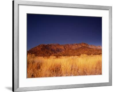 Sandia Mountains Desert Twilight Landscape, New Mexico-Kevin Lange-Framed Photographic Print