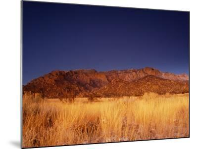 Sandia Mountains Desert Twilight Landscape, New Mexico-Kevin Lange-Mounted Photographic Print