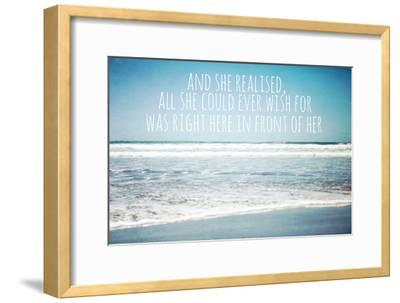 And She Realised, All She Could Ever Wish for Was Right Here in Front of Her-Susannah Tucker-Framed Photographic Print