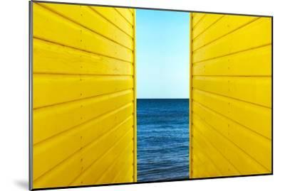 2 Yellow Beach Huts-Andy Bell-Mounted Photographic Print