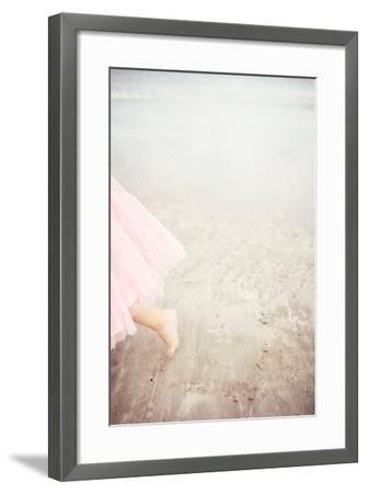 Girl in Tulle At Beach Edge 6-Susannah Tucker-Framed Photographic Print
