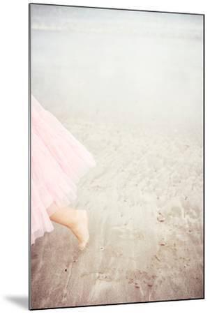Girl in Tulle At Beach Edge 6-Susannah Tucker-Mounted Photographic Print
