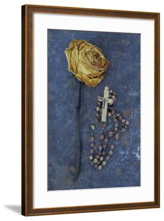 Squashed Dried Rose Once Cream And Now Brown-Den Reader-Framed Photographic Print