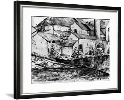 The Old Mill On the Exe-Tim Kahane-Framed Photographic Print