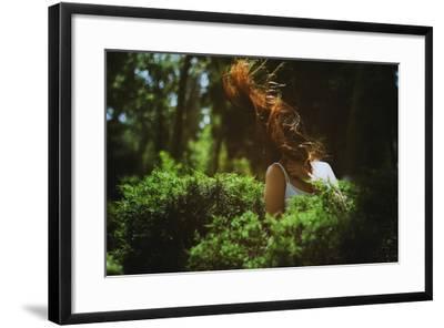 Young Woman with Long Hair-Carolina Hernandez-Framed Photographic Print