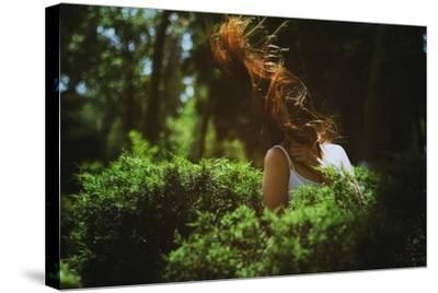 Young Woman with Long Hair-Carolina Hernandez-Stretched Canvas Print
