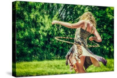 Female Youth Spinning Hoop-Stephen Arens-Stretched Canvas Print