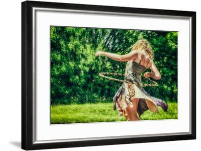 Female Youth Spinning Hoop-Stephen Arens-Framed Photographic Print