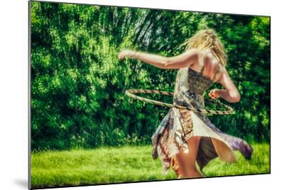 Female Youth Spinning Hoop-Stephen Arens-Mounted Photographic Print