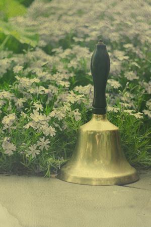 Bell in a Garden-Elizabeth Urqhurt-Framed Photographic Print