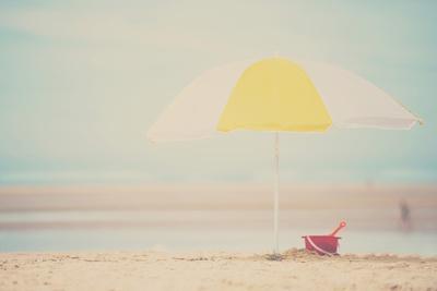 Beach Sunshade-Laura Evans-Framed Photographic Print