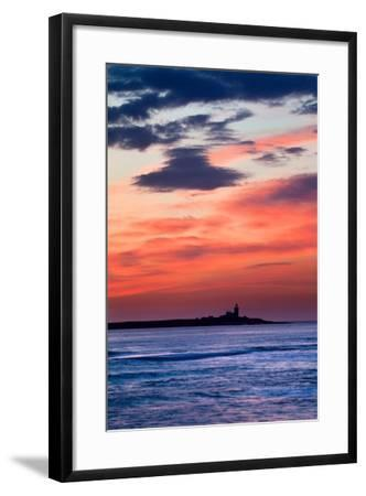 Coquet Island Red Sky-Mark Sunderland-Framed Photographic Print