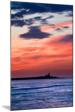 Coquet Island Red Sky-Mark Sunderland-Mounted Photographic Print