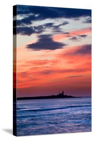 Coquet Island Red Sky-Mark Sunderland-Stretched Canvas Print