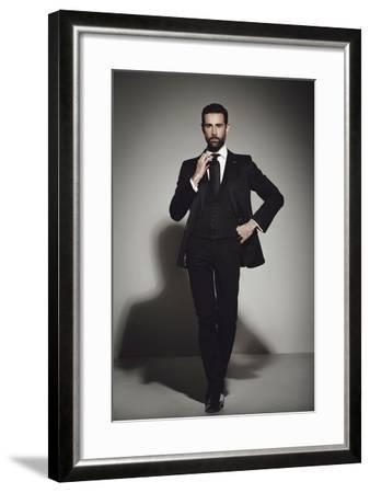 Male Model Posing-Luis Beltran-Framed Photographic Print