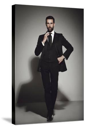 Male Model Posing-Luis Beltran-Stretched Canvas Print