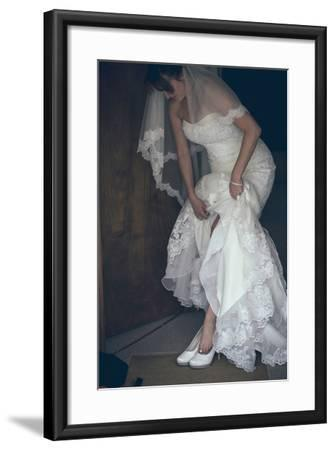 Bride in White Dress-Clive Nolan-Framed Photographic Print