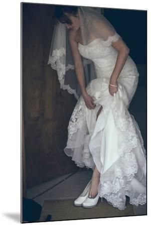 Bride in White Dress-Clive Nolan-Mounted Photographic Print