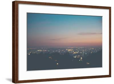 Sunset on Mulholland Drive-Laura Evans-Framed Photographic Print