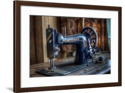 Old Sowing Machine-Nathan Wright-Framed Photographic Print