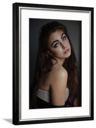Young Woman in Silk-Vania Stoyanova-Framed Photographic Print