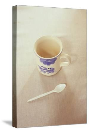 Small Mug and Plastic Spoon-Den Reader-Stretched Canvas Print