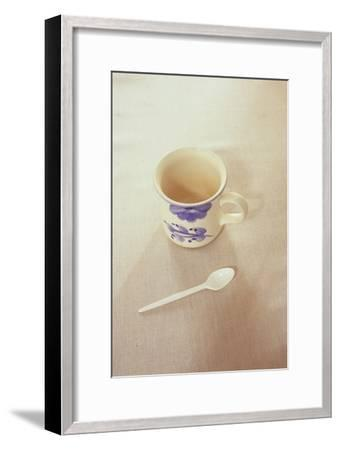Small Mug and Plastic Spoon-Den Reader-Framed Photographic Print