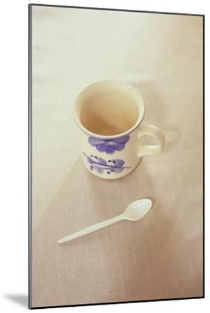 Small Mug and Plastic Spoon-Den Reader-Mounted Premium Photographic Print