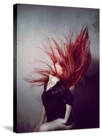 Young Redhead Throwing Head Back-Vania Stoyanova-Stretched Canvas Print