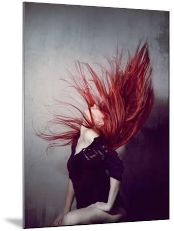 Young Redhead Throwing Head Back-Vania Stoyanova-Mounted Photographic Print