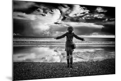 Young Girl Standing on a Beach-Rory Garforth-Mounted Photographic Print