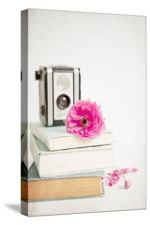 Pink Flower with Books and Camera-Susannah Tucker-Stretched Canvas Print
