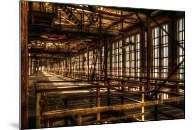 Abandoned Power Plant Interior-Nathan Wright-Mounted Photographic Print