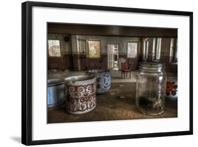 Old Mugs in Abandoned Interior-Nathan Wright-Framed Photographic Print