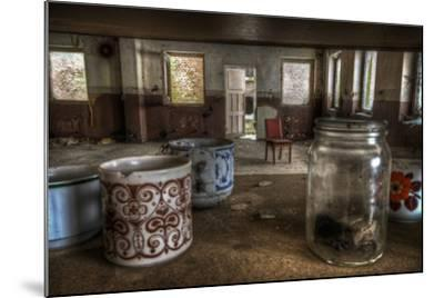 Old Mugs in Abandoned Interior-Nathan Wright-Mounted Photographic Print
