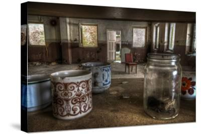 Old Mugs in Abandoned Interior-Nathan Wright-Stretched Canvas Print