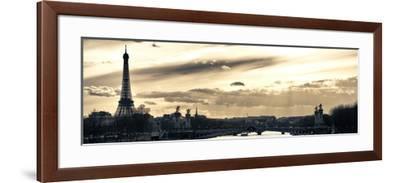 Sunset on the Alexander III Bridge - Eiffel Tower - Paris-Philippe Hugonnard-Framed Photographic Print
