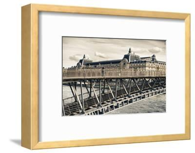 Musee d'Orsay - Solferino Bridge view - Paris - France-Philippe Hugonnard-Framed Photographic Print