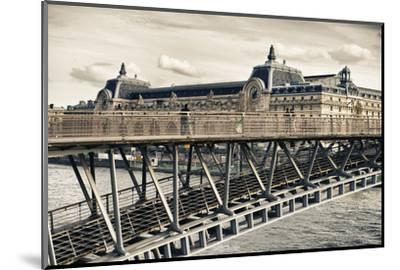 Musee d'Orsay - Solferino Bridge view - Paris - France-Philippe Hugonnard-Mounted Photographic Print